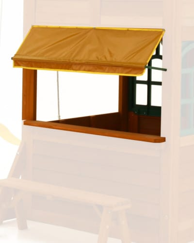 cafe canopy on climbing frame