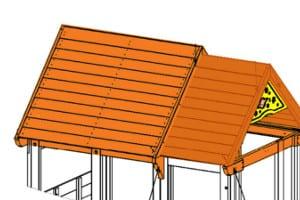 climbing frame wooden roof