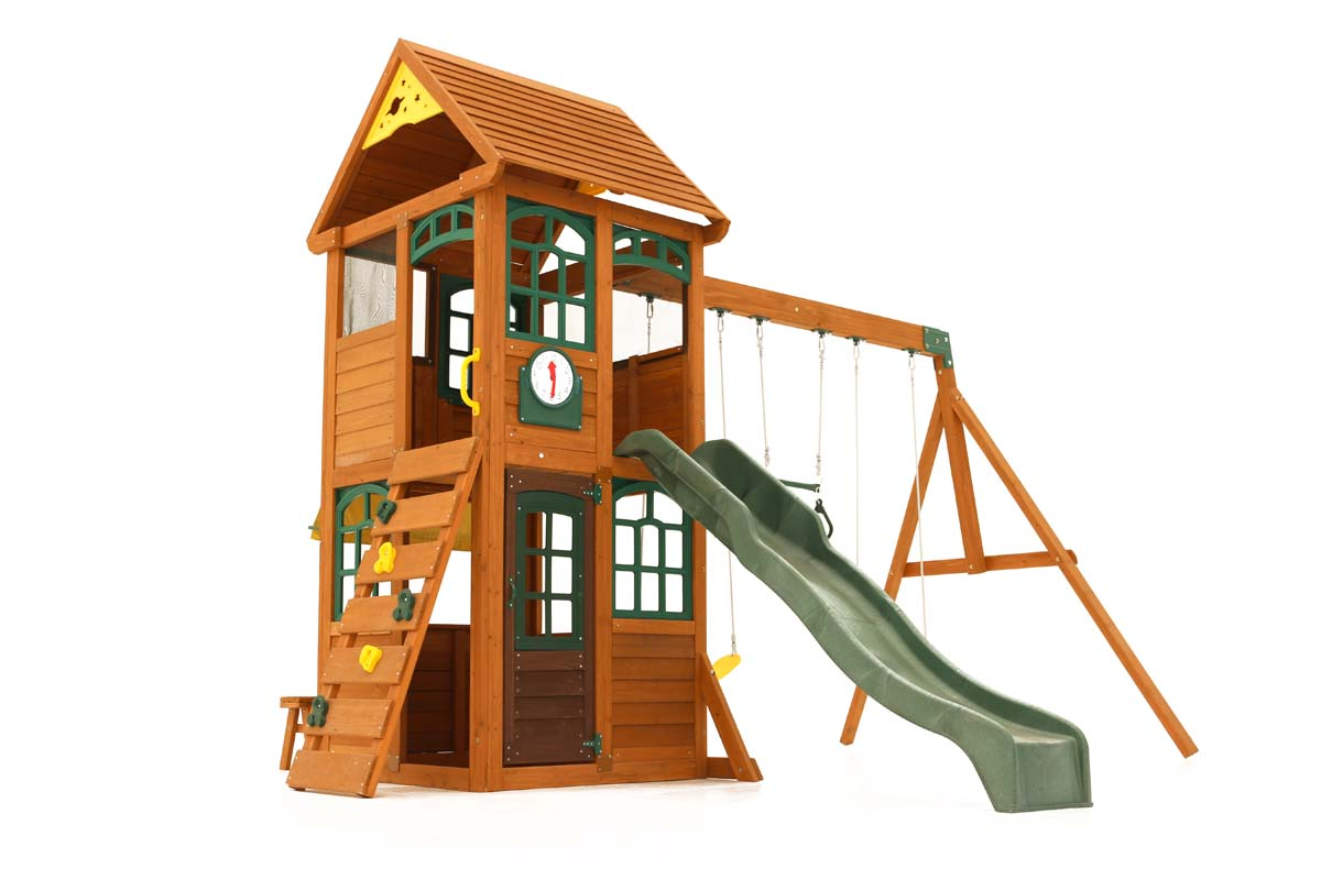 Glee climbing frame is a fantastic traditional wooden playset