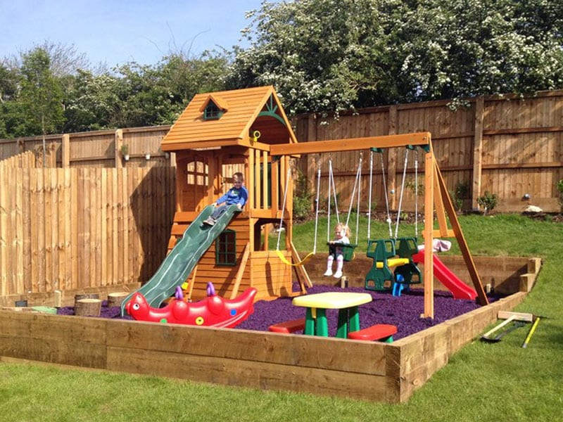 How to build a climbing frame on a slope
