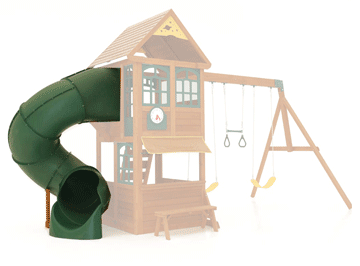 Tube slides are ideal for those looking to maximise slide length or garden space