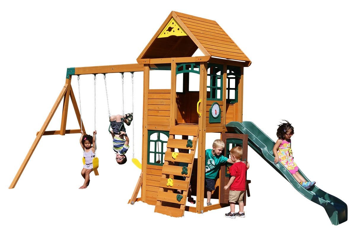 Rock climbing frame is best for long thin gardens