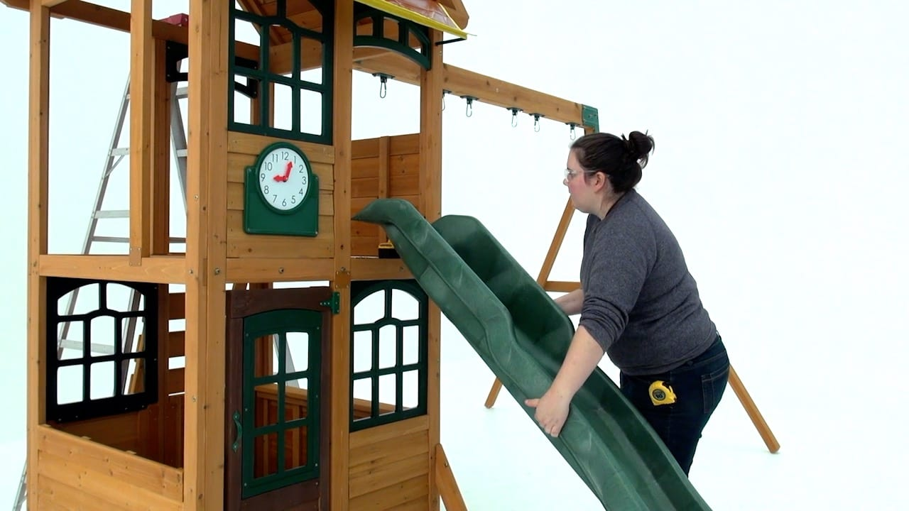 Fitting a Straight Slide to Selwood Climbing Frame