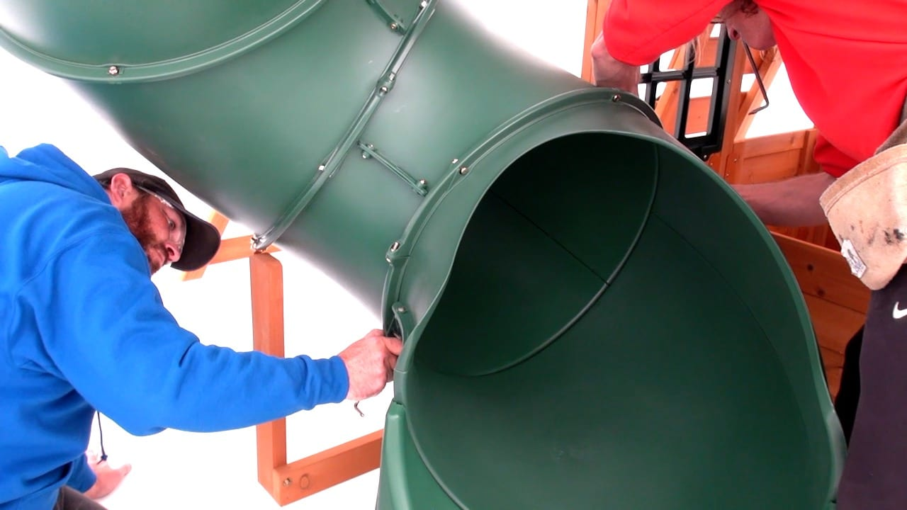 Fitting a Tube Slide to Selwood Climbing Frame