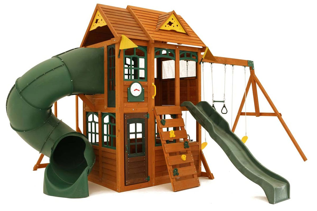 Nova climbing frame is our top spec garden play equipment