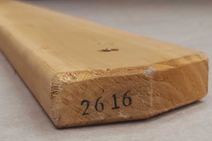 Easy to identify pre-numbered wood